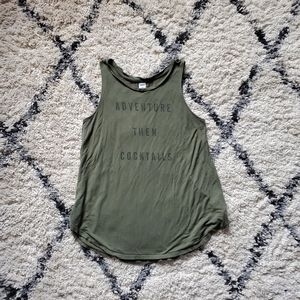 OLD NAVY | Green Racerback w/ Graphic Print